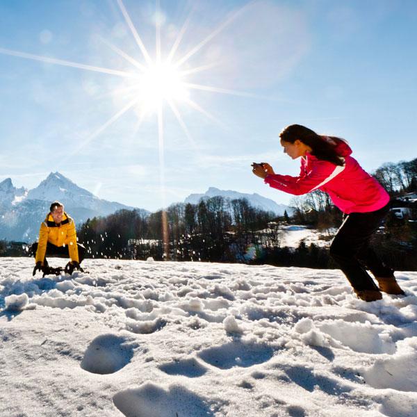 Winterlandschaft mit Watzmannblick