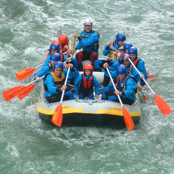 Rafting Tour RET für jedermann in Bayern