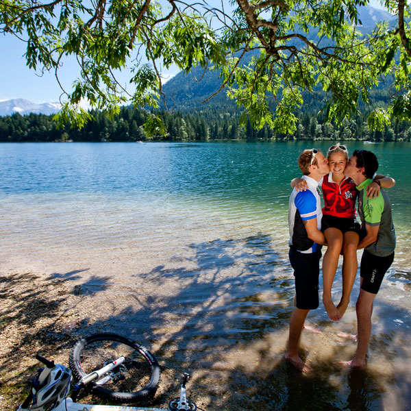 Cycling at the Königssee